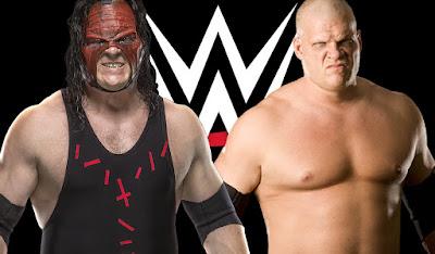 El luchador Kane con y sin su máscara