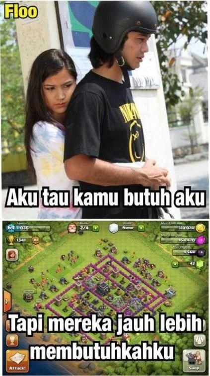 meme comic clash of clans indonesia