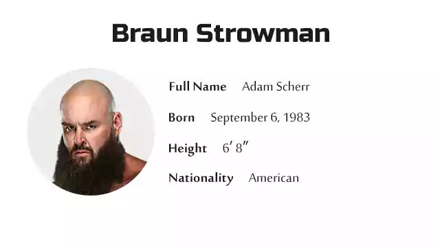 Braun Strowman Biography History Net Worth And More