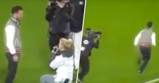Video de mujer pidiéndole matrimonio a hombre en estadio