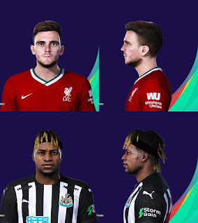 PES 2021 Faces Saint-Maximin & Andrew Robertson by YNWA