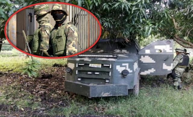 """Donde están? Militares  en Michoacán , sin reportar captura del """"M-2"""", 19 de sicarios del CJNG y camiones """"monstruo"""", tras emboscada en Aguililla."""