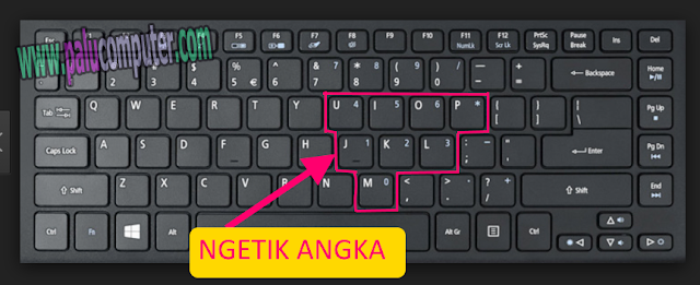 keyboard ngetik angka