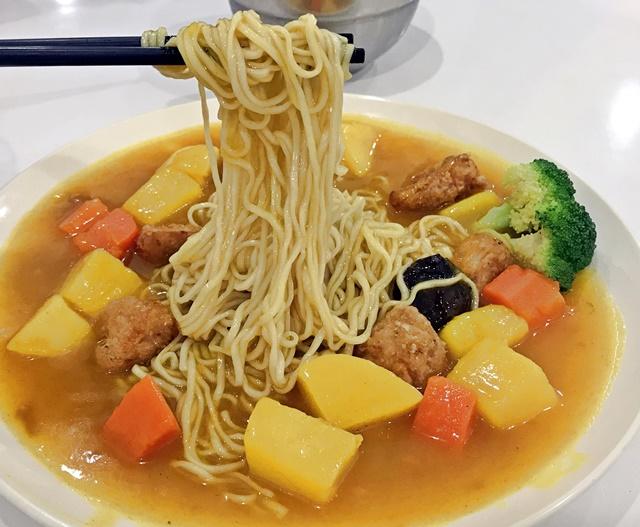 杏鮑菇咖哩麵