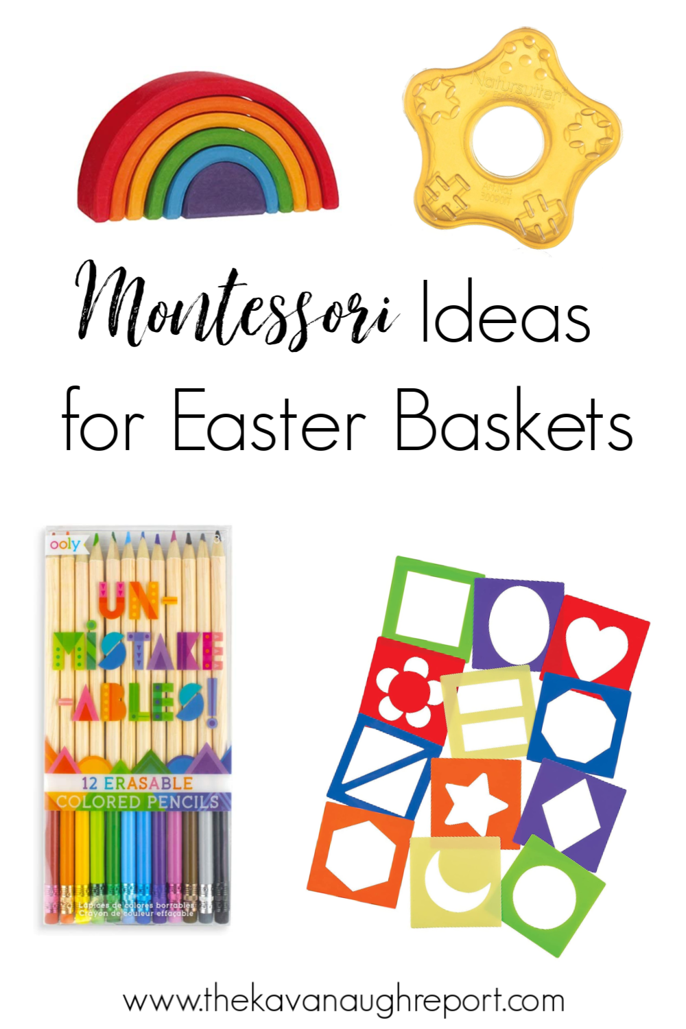 Here are some Montessori ideas and activities for Easter baskets. This post contains ideas for babies, toddlers, and bigger kids.