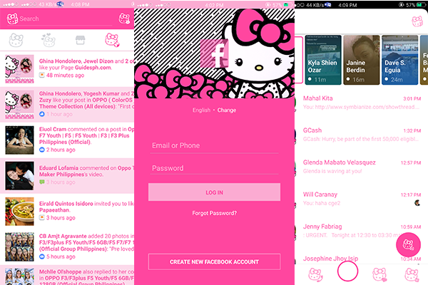 Oppo Hello Kitty Facebook and Messenger Installation