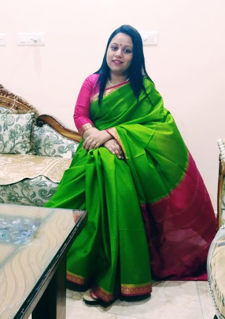 Shopping, Style and Us: India's Best Shopping and Self-Help Blog -Crepe Silk Sarees are ones of the best choices to work regardless of your profession.