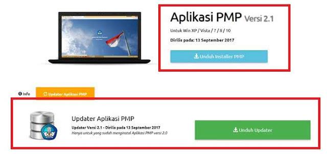 Installer dan Updater Aplikasi PMP Versi 2.1 Terbaru