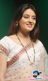 Mahi Vij In White Saree