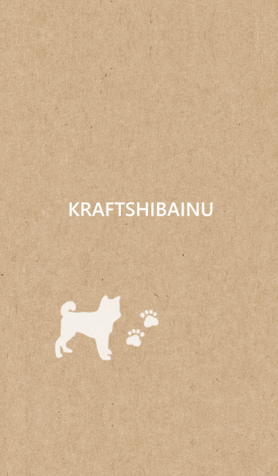 Kraft paper and dog
