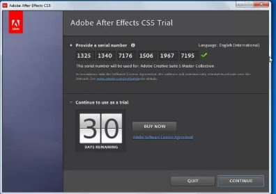 Adobe After Effect CS Serial Number