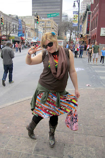 2 sxsw festival funky skirt - SXSW Skirt Review: Sheila at SXSW!