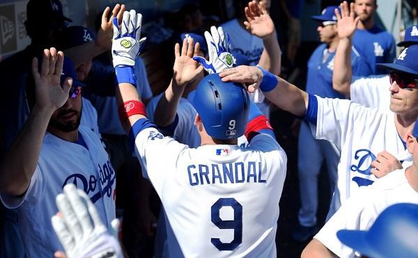 El habanero despachó 22 jonrones en el 2017 con los Dodgers
