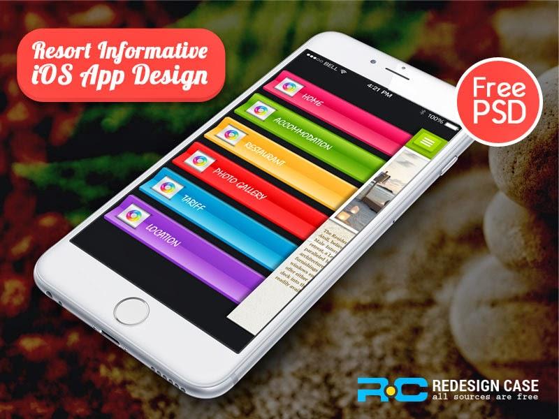 Resort Informative IOS App UI