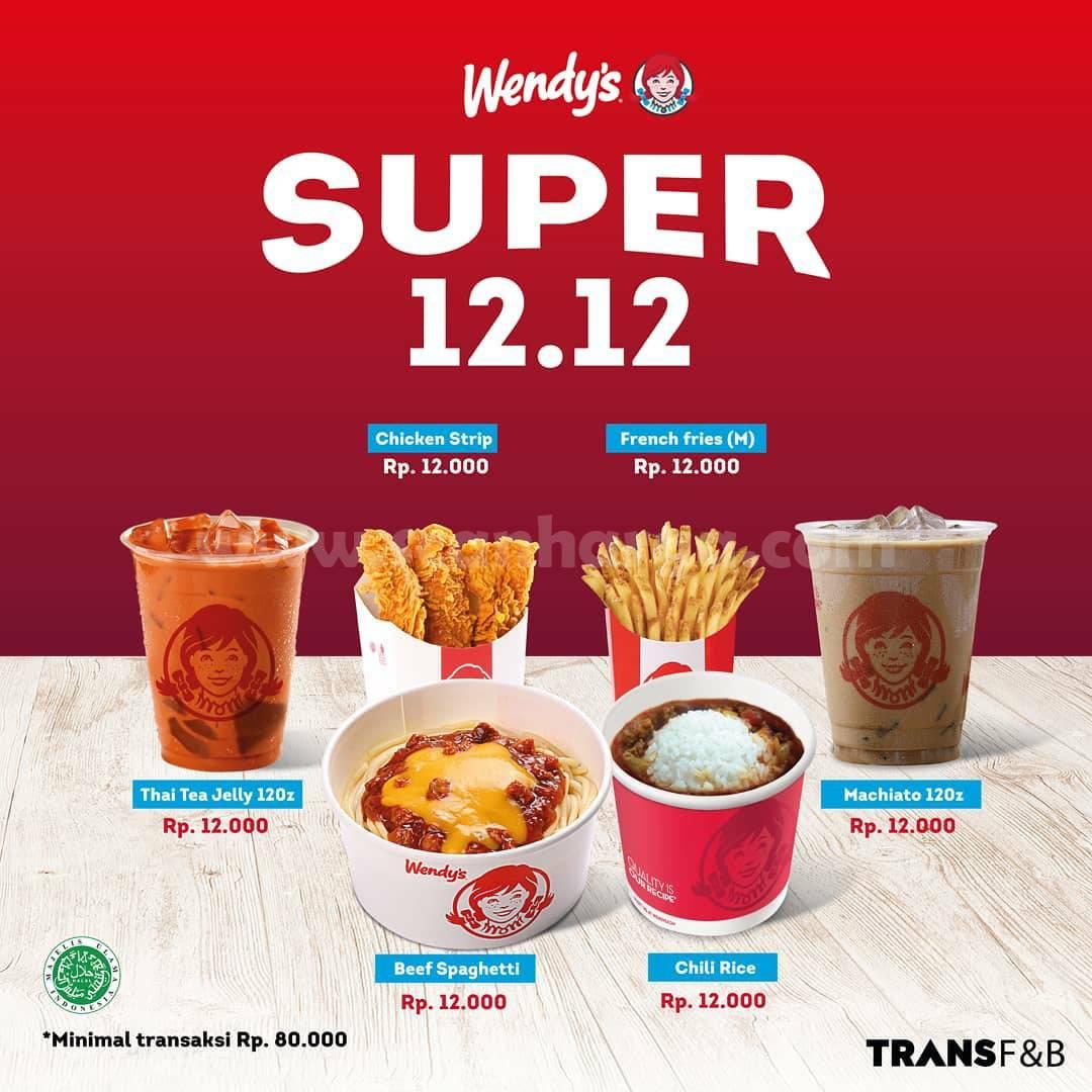 Wendys Promo Super 12.12 – Semua menu Pilihan hanya Rp 12.000,-