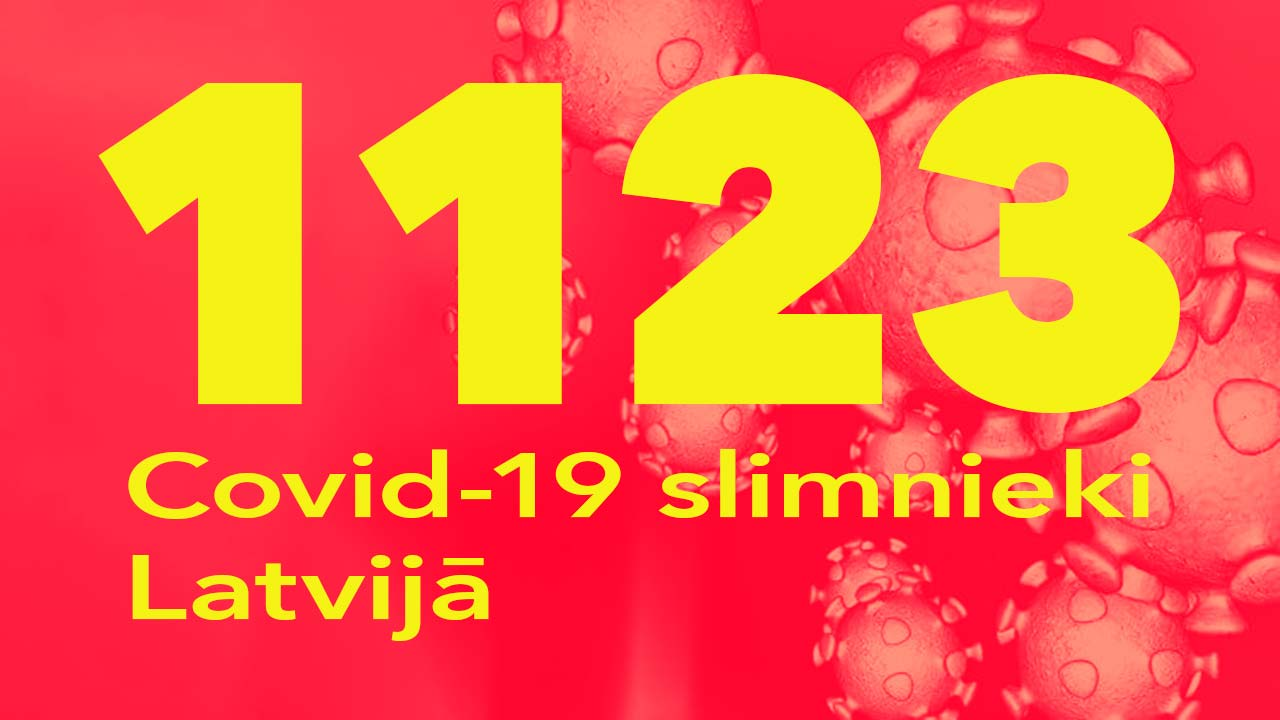 Koronavīrusa saslimušo skaits Latvijā 04.07.2020.