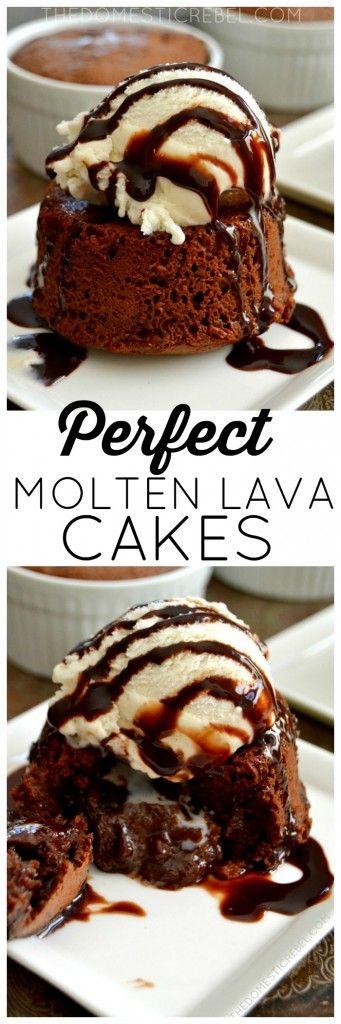 Perfect Molten Lava Cakes #dessert #cake #lava #chocolate