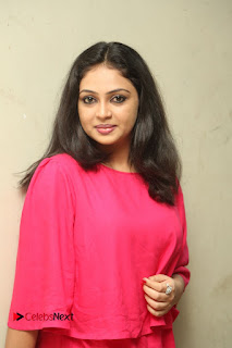 Actress Arundathi Nair Stills in Red Chididar at Bethaludu Success Meet  0060.JPG