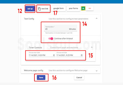 langkah 12-17 setting timer gform dengan form timer
