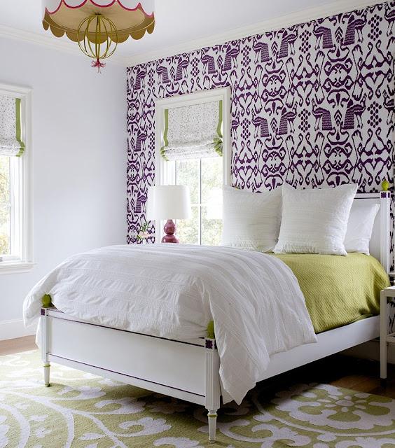 Wallpaper Kamar Tidur Remaja Perempuan Warna Ungu