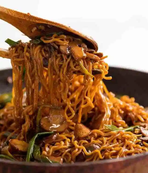 Asian Mushroom Ramen Noodles #noodles #dinner #mushroom #easy #recipes