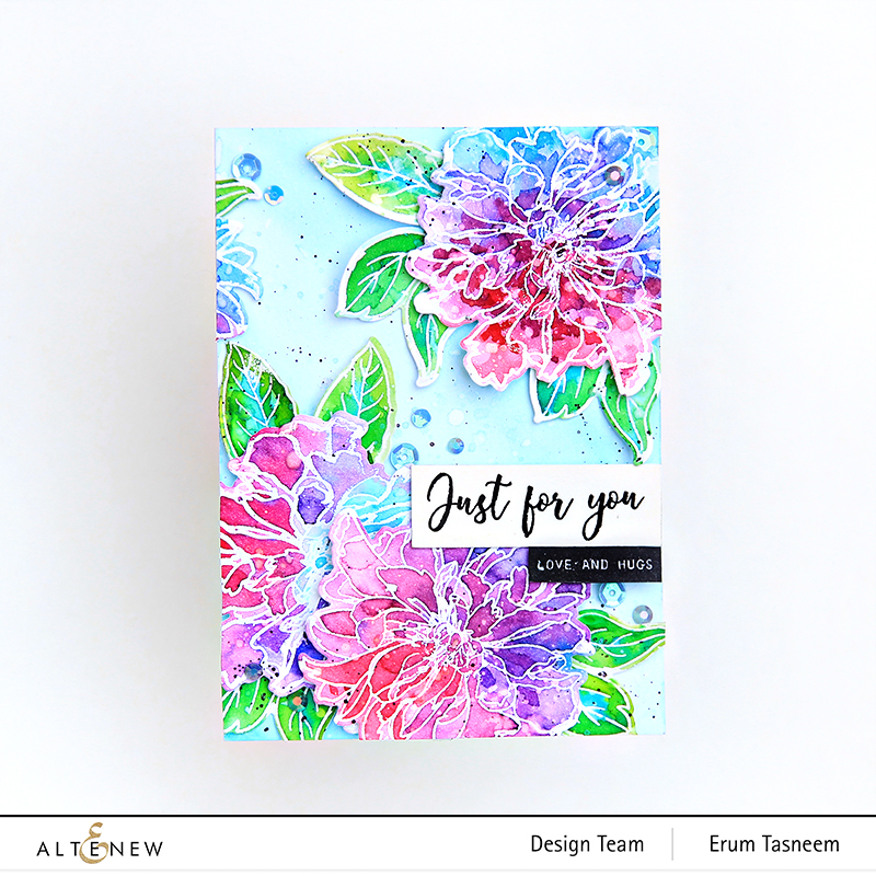 Altenew Build-A-Flower: Cora Louise Peony + Watercolor Brush Markers | Erum Tasneem | @pr0digy0