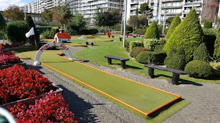 Minigolf course at Leopoldpark in Blankenberge