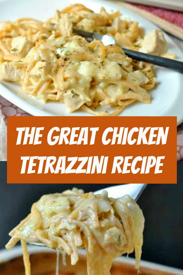 Comfort food. This Chicken Tetrazzini recipe has been a family favorite for many years! It's also a great dish to bring a new mom! Cheesy, Chicken Tetrazzini. One of our favorite meals, perfect for serving a crowd too! EASY and DELISH! #comfortfood #chicken #dinner