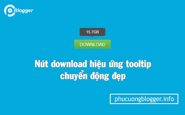 Tạo nút download hiệu ứng tooltip chuyển động đẹp