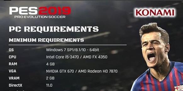 Pengen Main PES 2019 di PC, Cek Spesifikasimu dulu