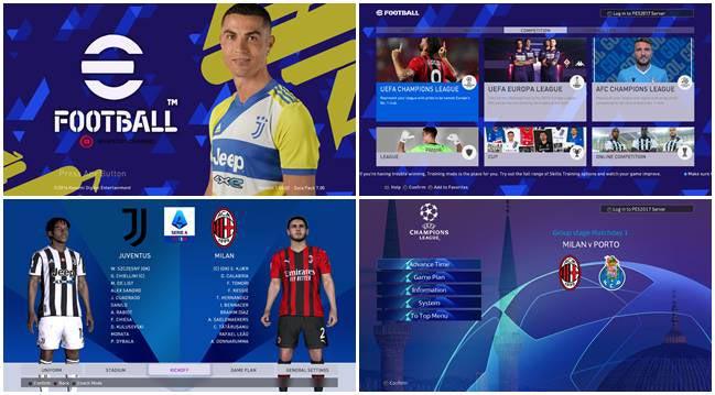 eFootball 2022 Juventus Graphic Menu For PES 2017