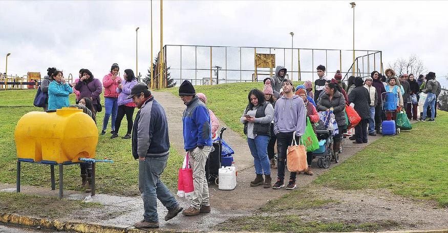 El corte de agua en Osorno
