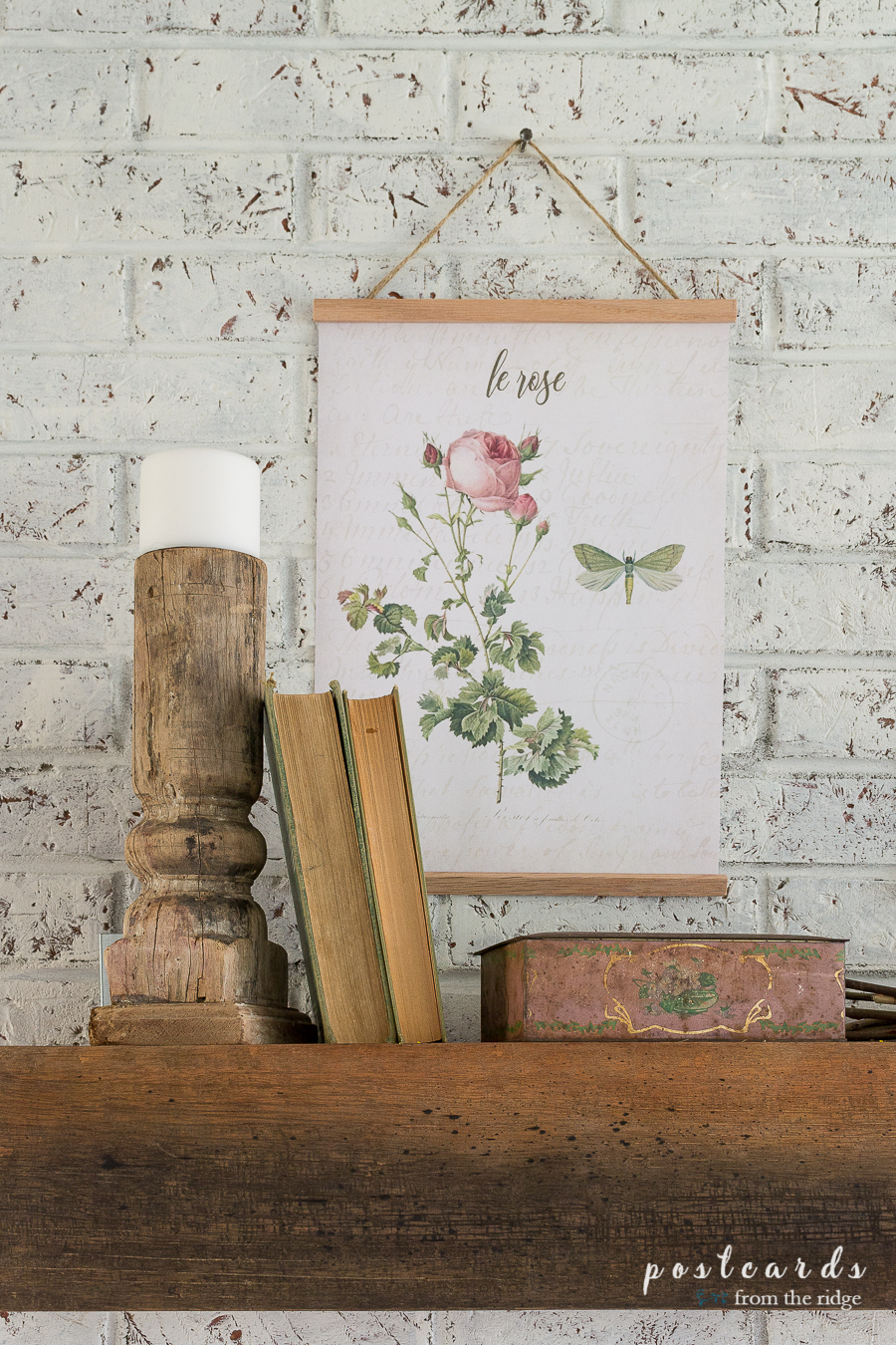 diy hanging frame with free botanical art