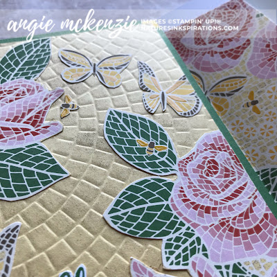 Fun with Fussy Cutting | Mosaic Mood Specialty DSP by Stampin' Up!® | Nature's INKspirations by Angie McKenzie