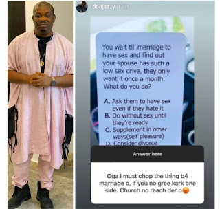 Don Jazzy Insists On Having S3x Before Marriage