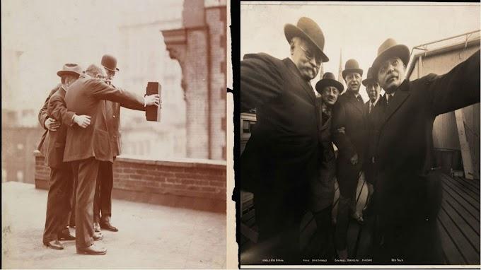 Vintage Primeiro Selfia na História