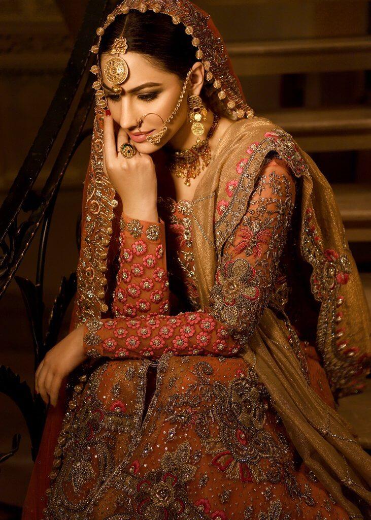 Shiza Hassan Wedding Dress for Nikah with Dupatta