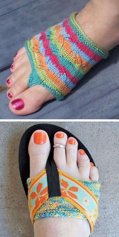 Flippant Thong Socks - Free Pattern
