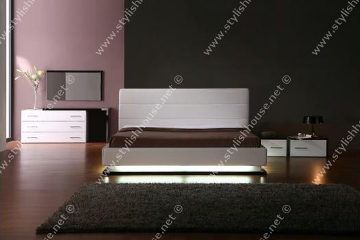 modern bedroom furniture set with under bed Lights