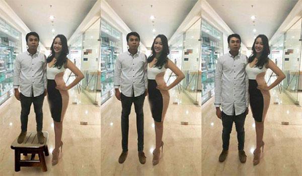 tinggi badan Raditya Dika, Raditya Dika pendek, tinggi Raditya Dika dan Elvira, keuntungan jadi orang pendek