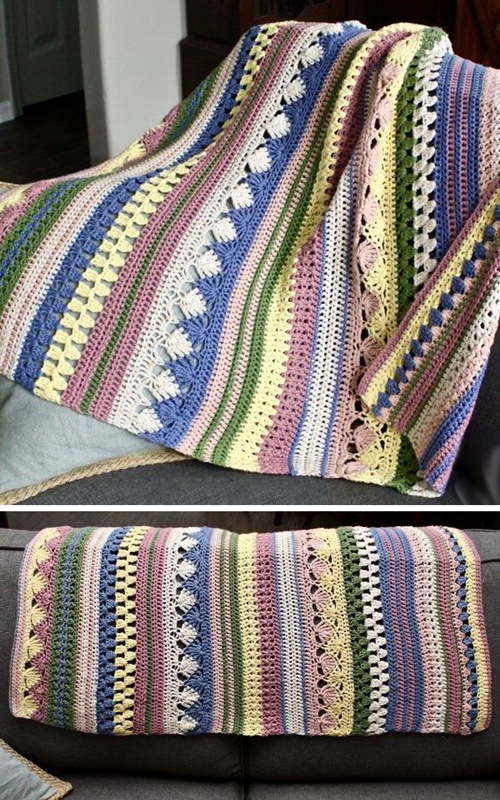 Boho Striped Baby Blanket - Free Pattern