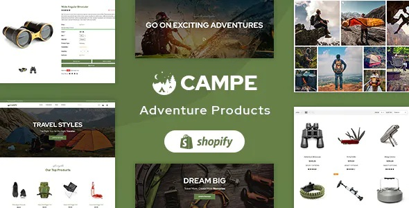 Campe Camping & Adventure Shopify Theme