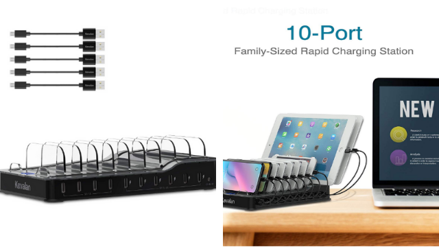 Kavalan 10 Port USB Charging Station