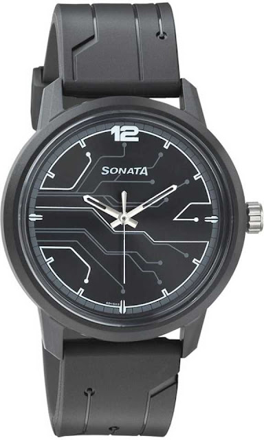 Sonata 77085PP01 Volt Analog Watch