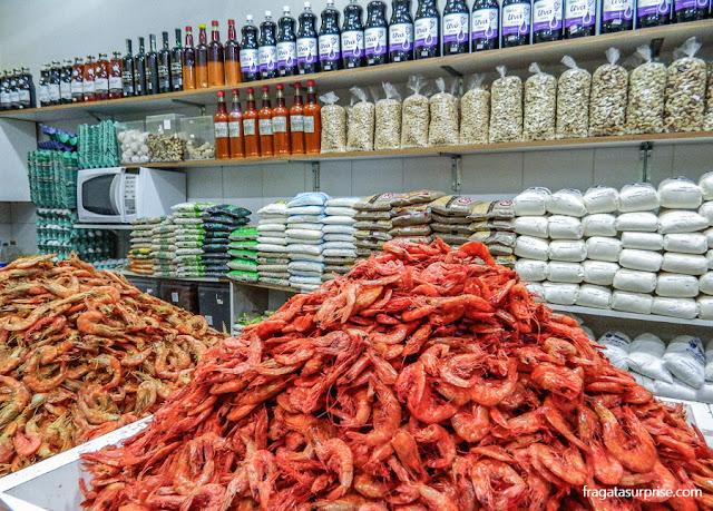 Camarão seco no Mercado do Rio Vermelho, Ceasinha de Salvador