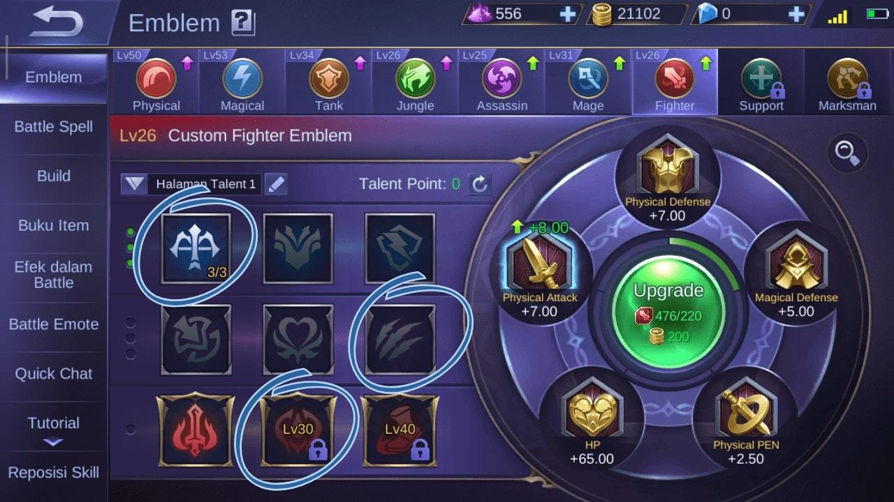 Susunan Emblem Fighter Masha yang Paling Sakit Hero OP Mobile Legend Terbaru