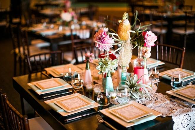 decoration table mariage glam vintage