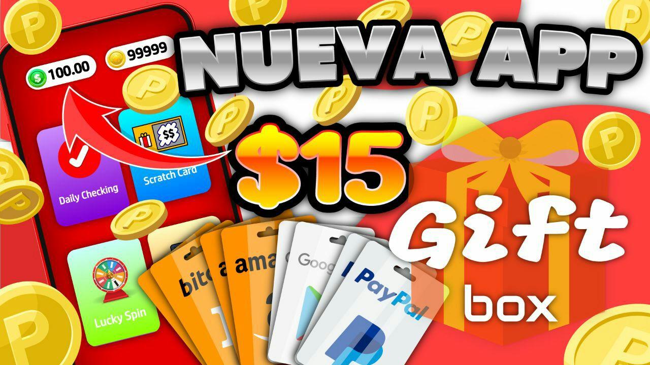 NUEVA APP! :fire: [Gift Box] APP Para GANAR DINERO a PAYPAL, Google Play y Free Fire Diamond :money_with_wings: