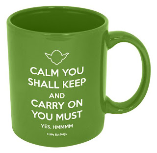 Keep Calm And Carry On Yoda Mug