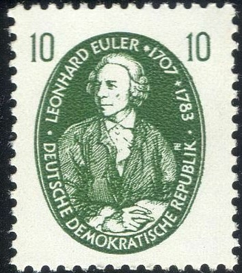 DDR Germany 1957 Euler